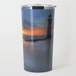 Sunset at the Lighthouse v3 Travel Mug