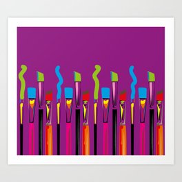 Colorful Artist Tools Contemporary Arts Art Print