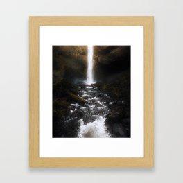 Cascading Winter Light Framed Art Print