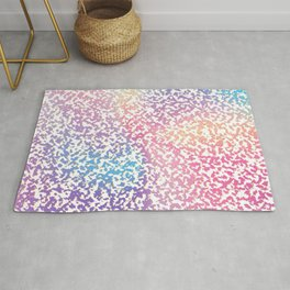 Abstract lavender pink ombre modern pattern Rug