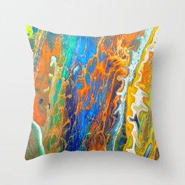 sprin wave Throw Pillow
