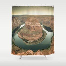 canyon country flow horseshoe bend arizona Shower Curtain