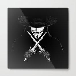 V for Vendetta (e7) Metal Print