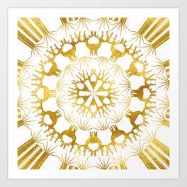 Gold Christmas 05 Art Print