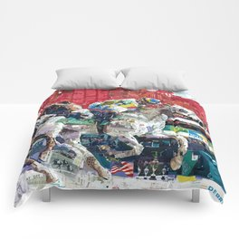 Abstract Race Horses Collage                                         Comforters