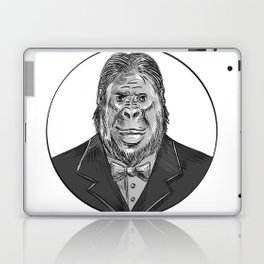 Gorilla Wearing Tuxedo Drawing Laptop & iPad Skin