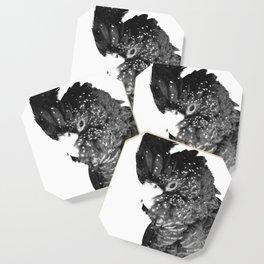 Black and White Cockatoo Illustration Coaster