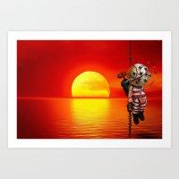 bioshock Art Prints featuring sunset bioshock by sgrunfo
