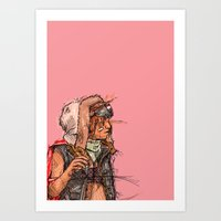 tank girl Art Prints featuring Tank Girl by Joe carver
