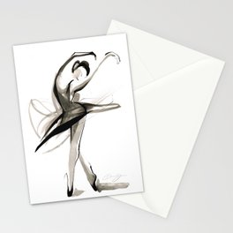 Dance Drawing Stationery Cards