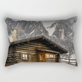 Alpine hut Rectangular Pillow
