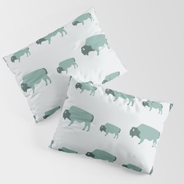 Bison And Baby (Moss) Pillow Sham