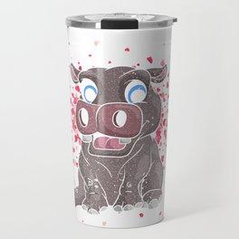 Cute Love Hippo Travel Mug