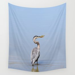Great Blue Heron Fishing - I Wall Tapestry