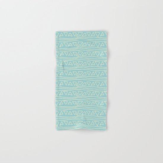 Blue Scribbles Pattern 05 Hand & Bath Towel