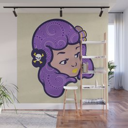 Girl Power Star Child Wall Mural