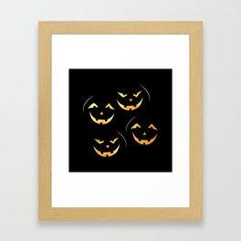 Scary jack-o-lantern Framed Art Print