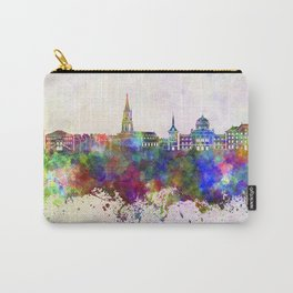 Toulouse skyline in watercolor background Carry-All Pouch