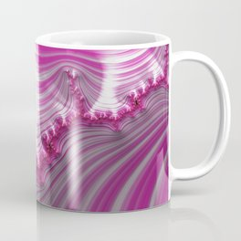 Fractal Art-Pink Striped Candy Coffee Mug