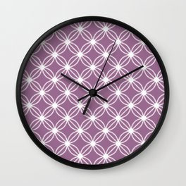 Abstract Circle Dots Purple Wall Clock