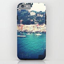 A vintage day in Portofino iPhone Case