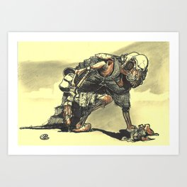 Panthera Monotooth Art Print