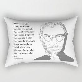 Steve Jobs - the crazy ones Rectangular Pillow