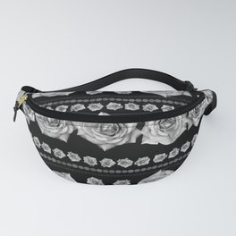 Black and White Floral #3 Fanny Pack