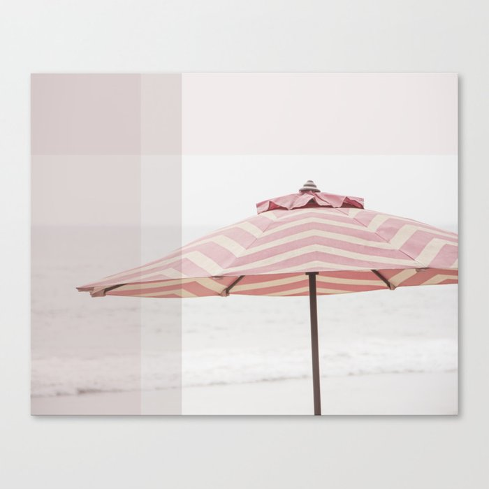 Beach Umbrella I Canvas Print