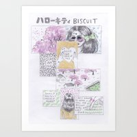 Biscuit Girl Art Print