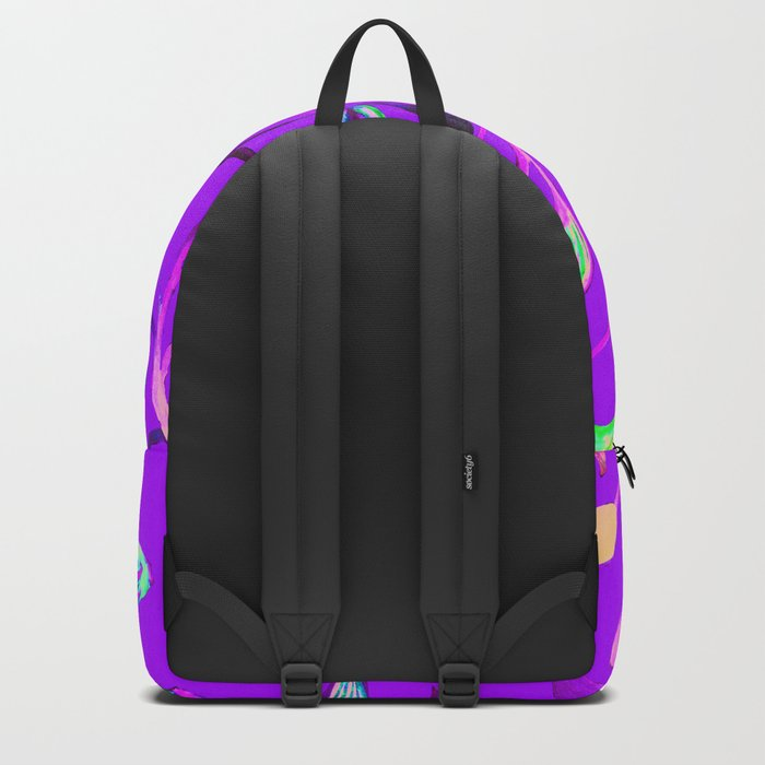Neon Purple Pop Leaves Backpack