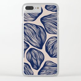 Organic Shapes 1 Clear iPhone Case