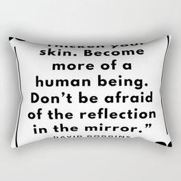 27    David Goggins Quotes   190901 Rectangular Pillow