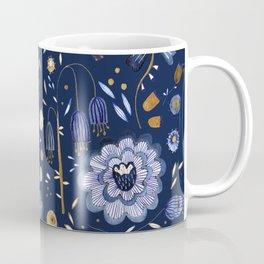 Indigo Flowers at Midnight Coffee Mug