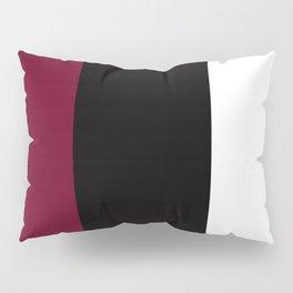 Team Colors 7....Maroon, black, white Pillow Sham