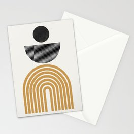 Rainbow and Moon Stationery Cards
