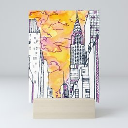 New York Sunset Mini Art Print