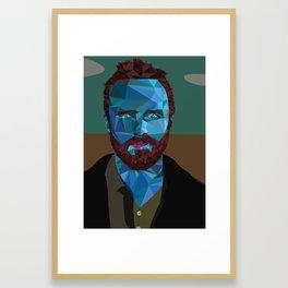 Jesse Pinkman Polygonal Framed Art Print
