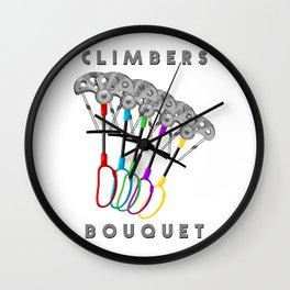 Rock Climbing Gear Freak Wall Clock