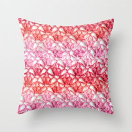Cherry blossom crochet Throw Pillow