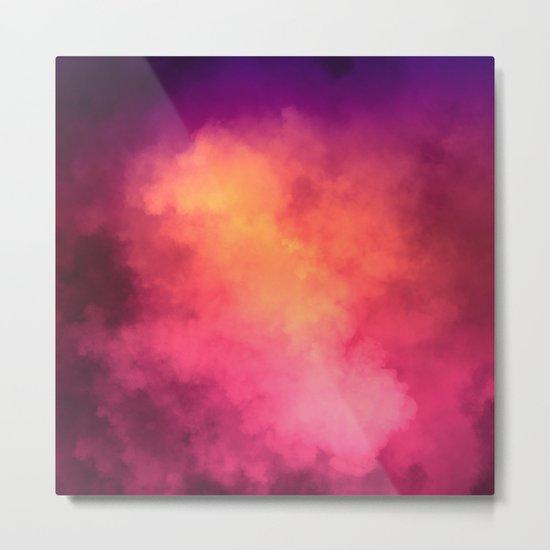 Rainbow Sky Clouds Metal Print
