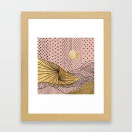 Golden Hills and Skies Framed Art Print