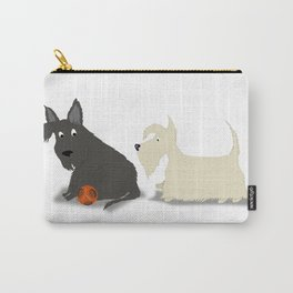 Two Scotties, Best Friends Carry-All Pouch