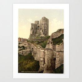 Vintage Photo-Print of Scarborough Castle (1900) Art Print
