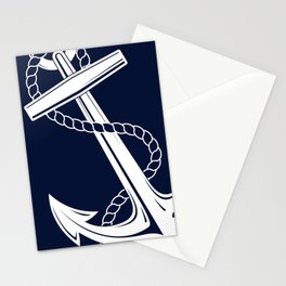 Anchor Navy & White Nautical  Stationery Cards