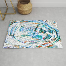 Glass stain mosaic 8 - Madonna, by Brian Vegas Rug