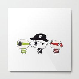 Three Pirates Metal Print