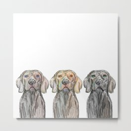 Triple Hunting Dogs Metal Print