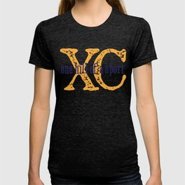 Purple & Gold XC: one hill of a course (cross country) T-shirt
