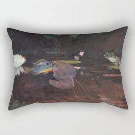 Winslow Homer - Mink Pond, 1891 Rectangular Pillow